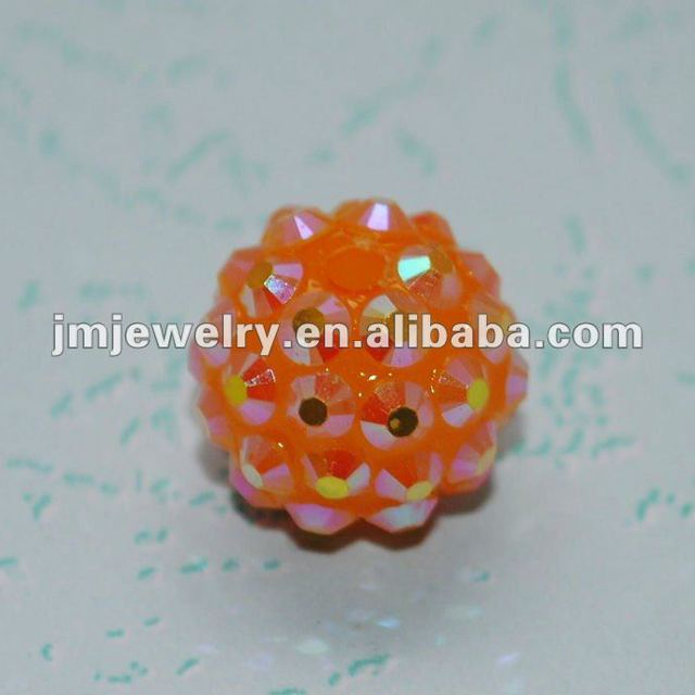 orange rhinestone craft ball beads in bulk for jewellery