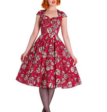 Women Vintage Dress Rockabilly Plus Size A Line Swing swing jive rockabilly dress