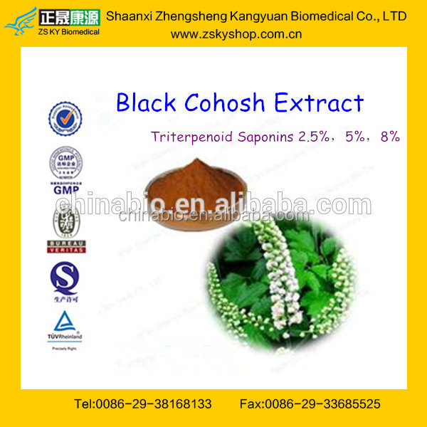 GMP Manufacture Supply Competitive Price Black Cohosh Extract Triterpenoid Saponins 2.5%-8%