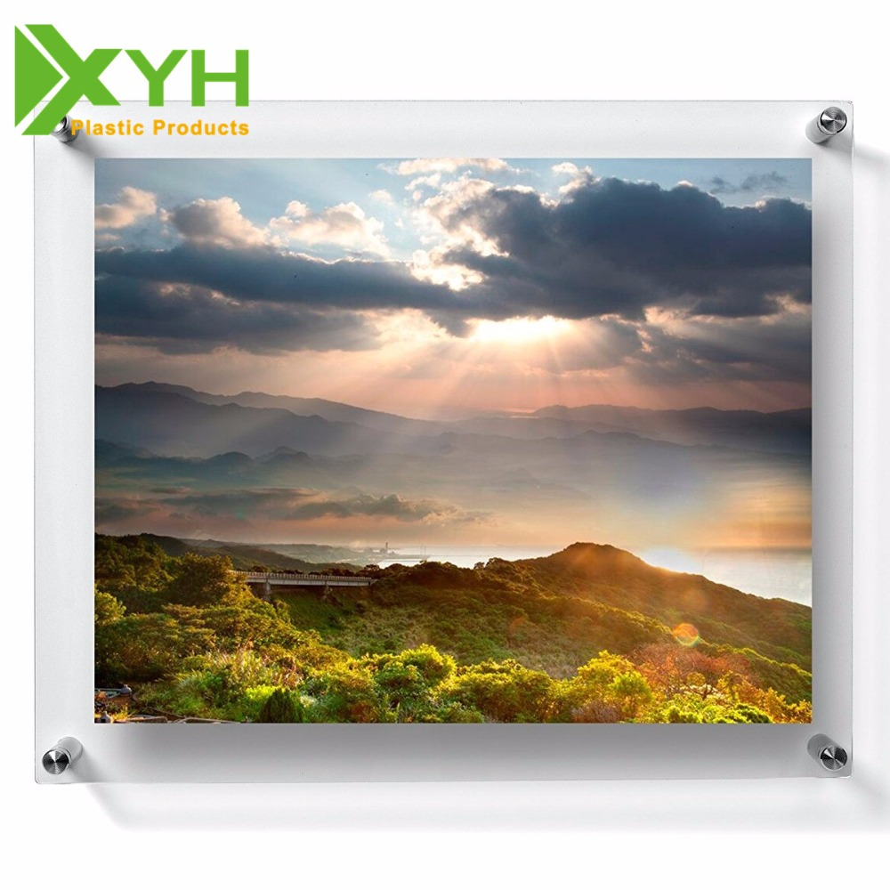 "8x10"" Wall mounted hanging picture frame acrylic photo frame wholesale"