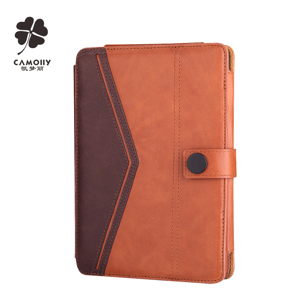 2017 new fashion style design color combined genuine leather tablet cover case for ipad air 1/2/3/pro professional boutique