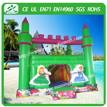 Green princess inflatable bouncing castle, inflatable jumping castle, inflatable princess bouncy castle