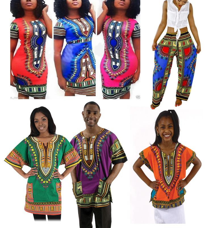 Walson Wholesale Traditional African Print Clothing Dashiki Dress and Shirt