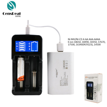 Double Slot Lithium li-ion Battery Charger with CE Rohs FCC Certification