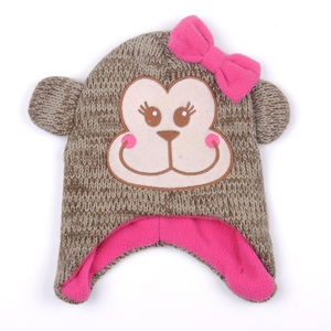 Wholesale knit 100 Acrylic thick Winter cute children baby kids hats beanie