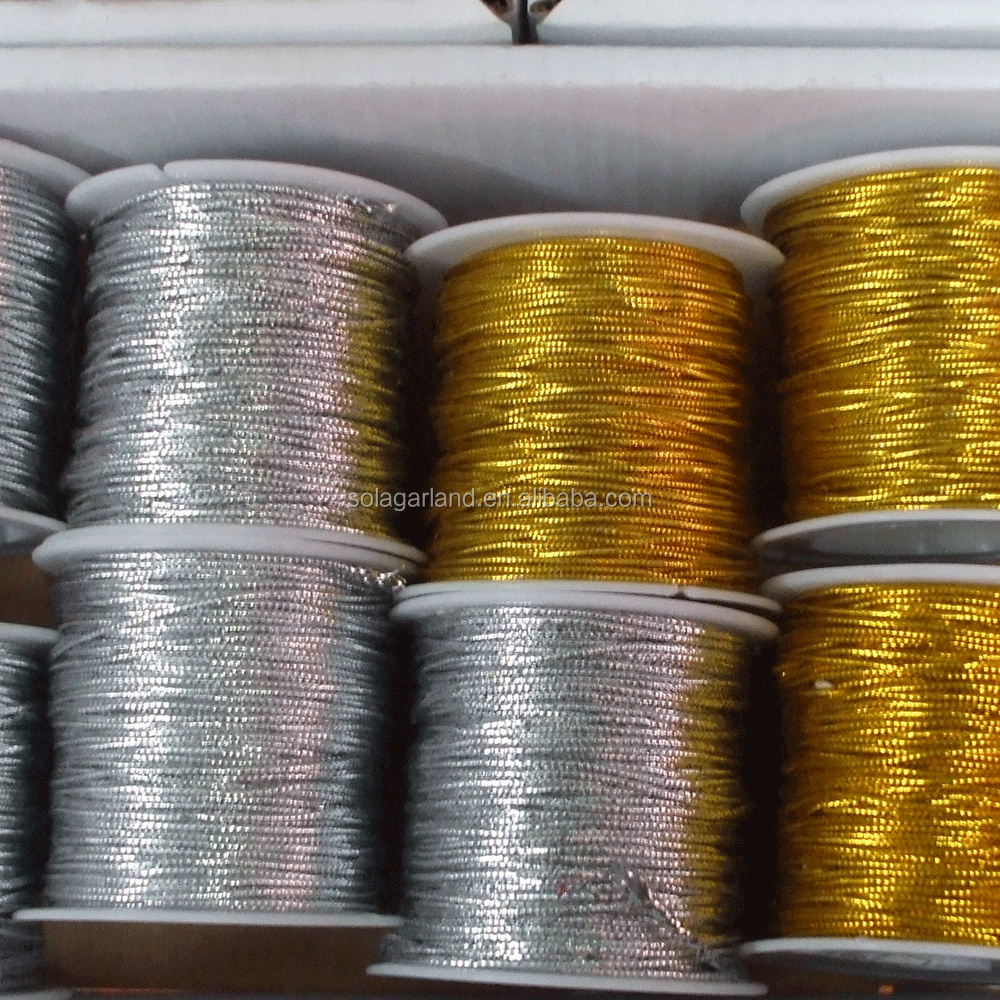 Wholesale Silver Tinsel Cord Yarn Thread Diy Art Jewelry Craft Sewing Embroidery