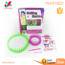 DIY my own wool knitting machine 3 in 1 small knitting set, toys for girl hand knitting machine