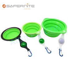 Collapsible Dog Water Bowl Food Grade Silicone Dog Bowl for Traveling