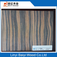 high quality engineering zebra wood veneer for furniture