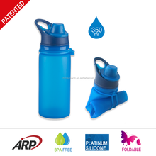 Hot design wholesale silicone sport collapsible water bottle