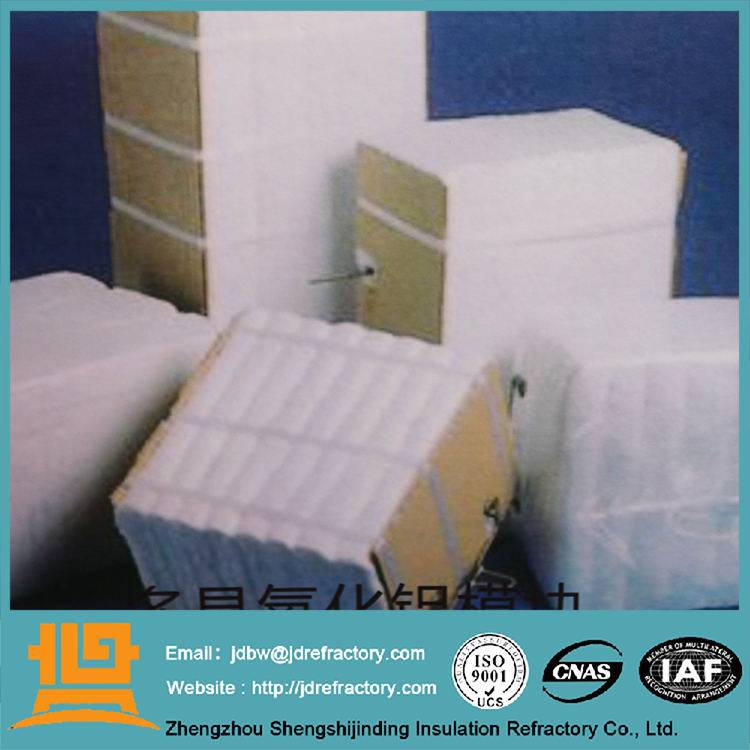 Non-brittleness material and good flexibility refractory heat insulation block ceramic fiber module definition francais