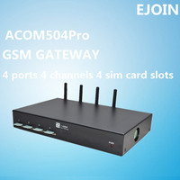 multi sim gsm voice modem of saving bulk calls cost 4 port AT command for SIM hosting SMS, 2g voip gateway