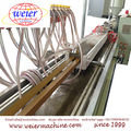 PE/PP/PVC WPC Eco Wood Plastic Foam Profile Extrusion Line