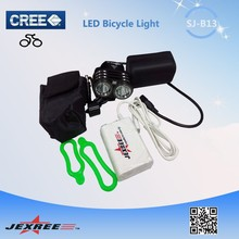 Jexree SJ-B13 OWL strong brightness led bicycle light with 2*Cree T6 LEDs and 4*18650 high power rechargeable battery