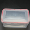 Rectangle Clear PP plastic food container lunch box with silicone seal
