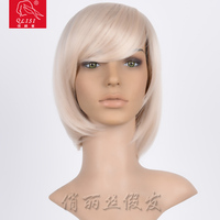 2016 best selling short blonde synthetic wig