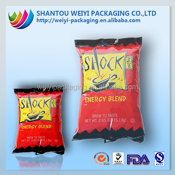 TESCO cool flavour chips customed printing plastic bag dry food packaging made in China