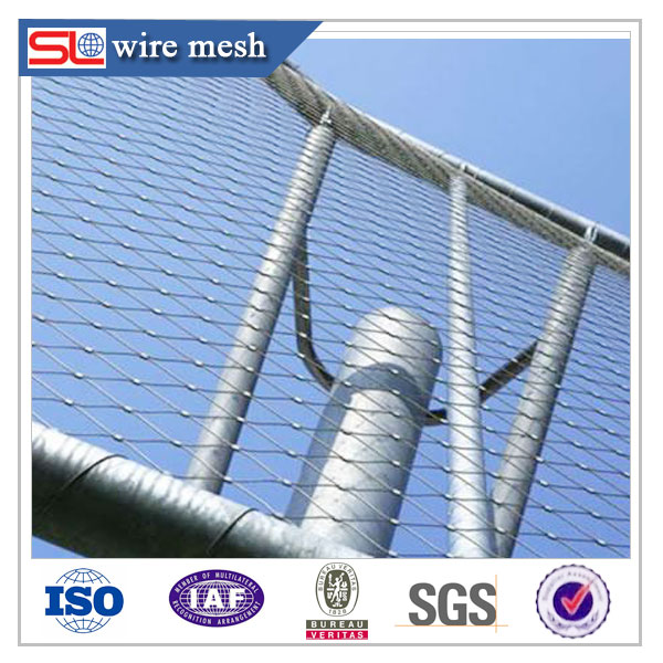 stainless steel wire rope mesh net/wire mesh cable tray in worksite