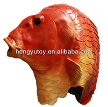Realistic Fish Head Costume Animal Fancy Dress Life Like Rubber Fish Mask