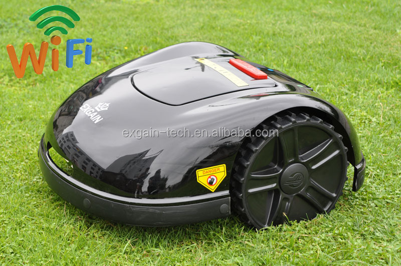 A EXGAIN Robotic Mower will cut your grass for you