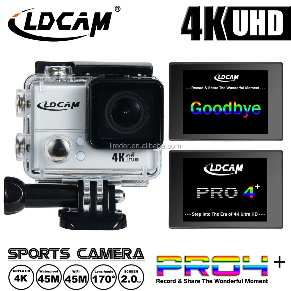 Real 4K Full HD 1080P Waterproof Action Camera With Waterproof Housing