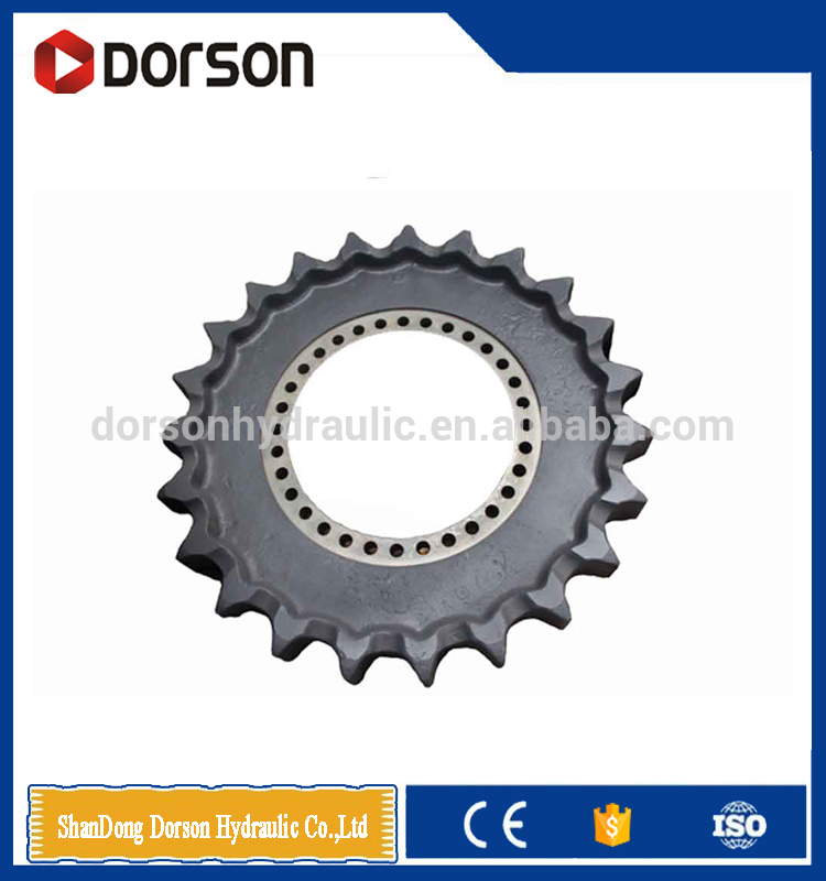 Excavator spare parts of driven gear ring/chain sprocket wheel and driving wheel for sale