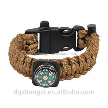 Outdoor Sports China Survival Gear Paracord Bracelet Survival Tools