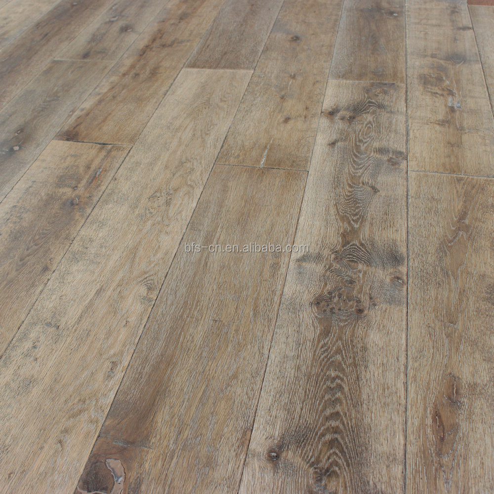 European style <strong>Antique</strong> style & Manual distressed & handscraped <strong>Oak</strong> 3 - ply engineered Wood Flooring
