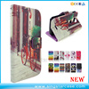 Colors Printed Leather Wallet Flip Case Cover For Motorola Moto C