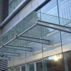 Tempered glass awning canopy for doors and windows with AS/NZS2208:1996, BS6206, EN12150 certificate