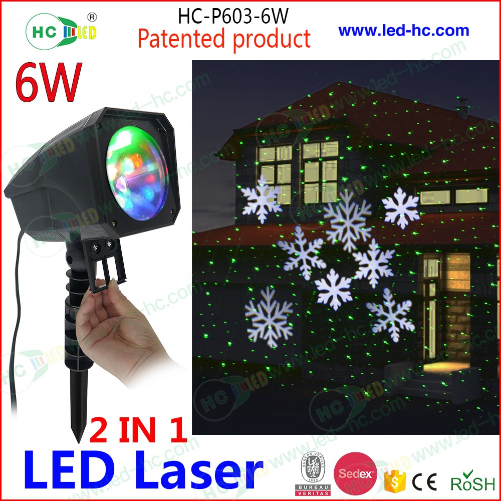 NEW 12 slides easy change laser combine LED Christmas projector light outdoor waterproof IP 65