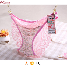 Anti-Bacterial lace cover adult sissy see through sexy panties underwear ladies panty brand names
