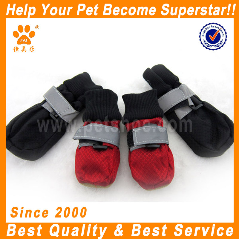 JML Hot New Red Black High Qulaity Waterproof Nylon Pet Accessories Dog Rain Boots