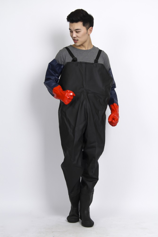 Eco-friendly breathable/waterproof jumpsuits raincoat rain coat suit rubber wader pants