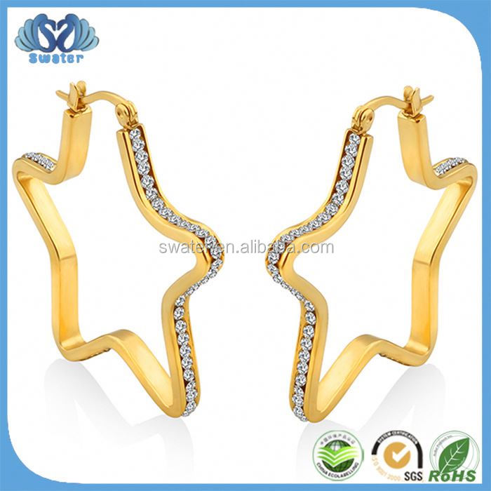 Alibaba China Supplier Gold Earrings 2012 New Design