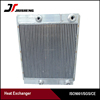 Customized made brazed air-cooled aluminum plate &bar air compressor oil cooler with competitive price
