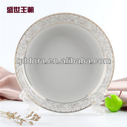Sublimation gold white blank plate, Sublimation gold white plate