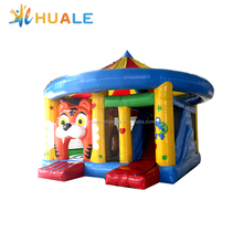 Huale 6x5x5m Jumping Castle Inflatable tiger combo for Kids Play tiger kid's bouncy house