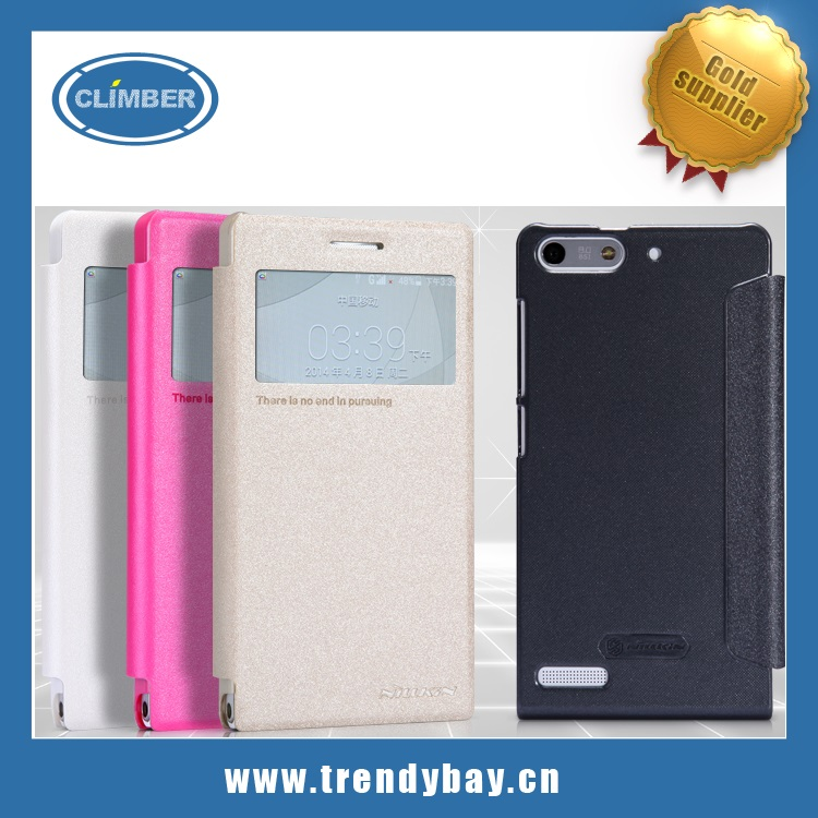 Leather Flip Case for Huawei Ascend G6 Case