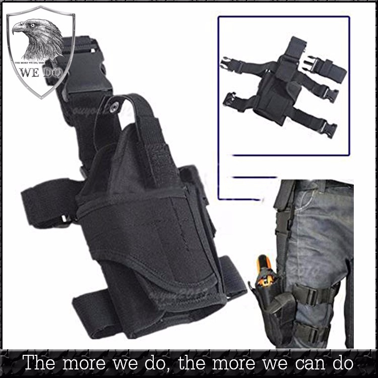 Adjustable Tactical Army Pisto Pouch Holder Gun Bag Drop Leg Holster for Right Drop Leg