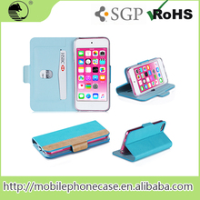 High Quality Phone Accessories Smart Mobile Phone Flip Case For iPod Touch 6 With card slot