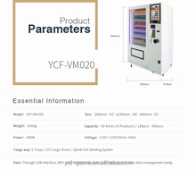 Fresh food Vending Machine With Elevator ZL01/Touch screen Vegetable and fruit salads vending machine