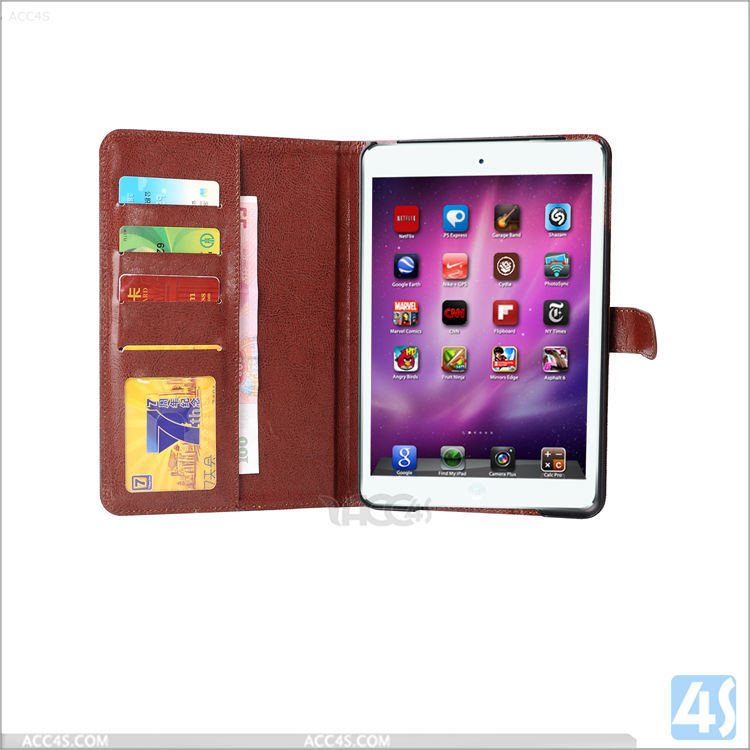 Top quality in stock factory wholesale cheap dual colors jeans style for ipad mini 4 wallet case