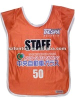 sublimated custom soccer training mesh vests