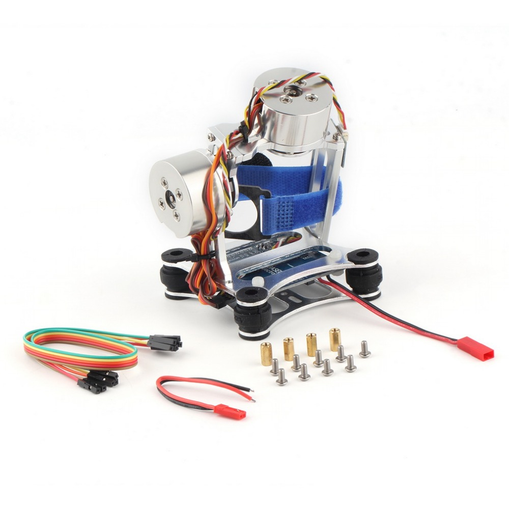Brushless Gimbal Camera <strong>w</strong>/ <strong>Motor</strong> & Controller for DJI Phantom Gopro 3 FPV Silver Color Super Light