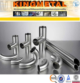 ASTM A403 WP304/316 Butt Welded Stainless Steel Sanitary Fittings Price For Food Industry