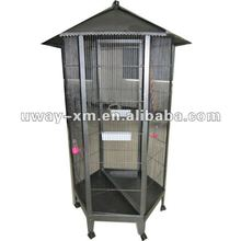 UW-PT-051 Hexagon standing metal bird cages,bird breeding cage,bird feeding cage