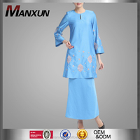 Beautiful Embroidery Buju Kurung Wide Cuff Nine Point Sleeve Kebaya