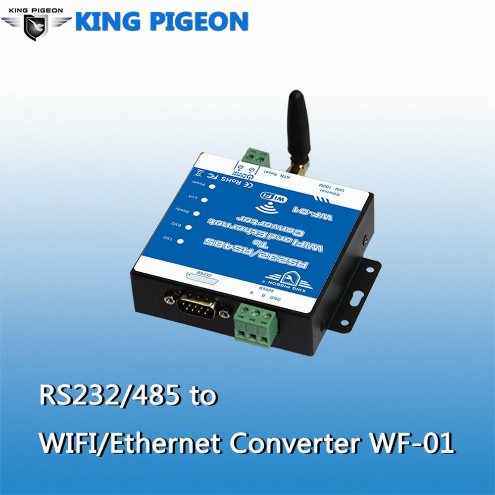 King Pigeon RS232/RS485 to Wireless 802.11b/<strong>g</strong>/n Ethernet WF-<strong>01</strong>