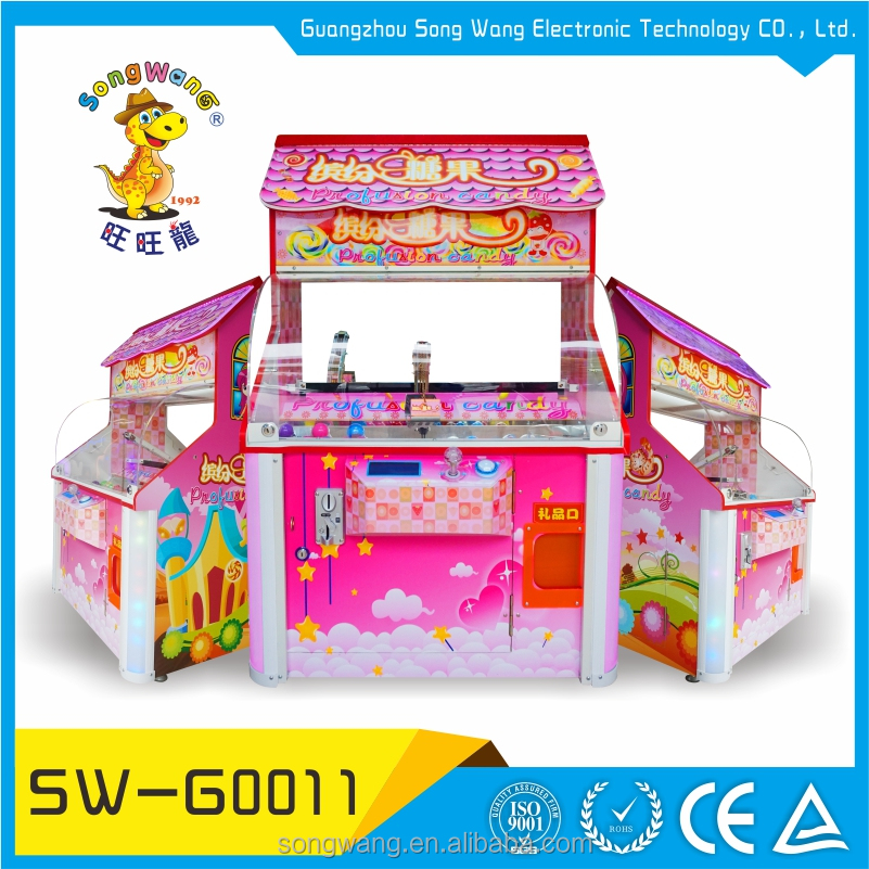 Coin Operated Acrylic Window Electronic Multi Grabbing Prize Game Machine